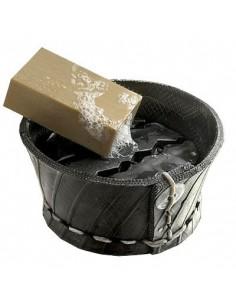 Seifenschale mit Tropfenfänger aus recycelten Reifen