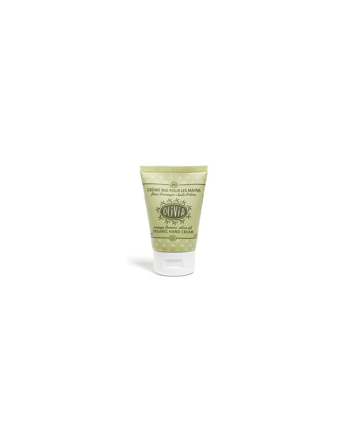 Crème pour les Mains Bio à l huile d olive, Fleurs d Oranger, Olivia ... 23dab8c0357