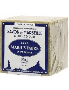 Cube de Savon de Marseille vert à l'huile d'olive, Marius Fabre, 200 g