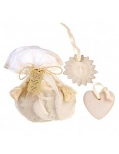 Parfümierte Terrakotta-Objekte mit Säckchen, Collines de Provence