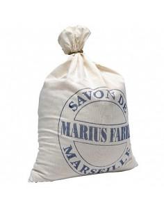 Marseille Soap flakes, Marius Fabre, cotton bag, 10 kg