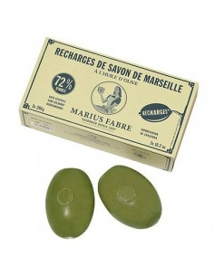 Green olive oil Soap Refill for Soap Holder, Marius Fabre, 2 x 290 g