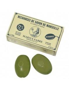 Recharge pour porte-savons, Savon rotatif, Marius Fabre, 2 x 290 g Savon Olive