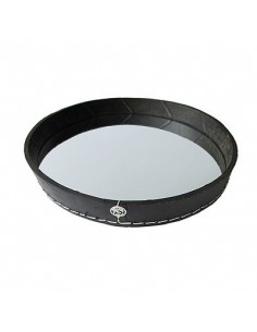 2 in 1, Mirror and Tray with natural rubber border, Tadé, Ø 37 x 5 cm