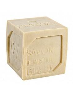 Cube of white Marseilles Soap, Compagnie de Provence, 400 g