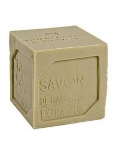 Cube of green Marseilles Soap, Compagnie de Provence, 400 g