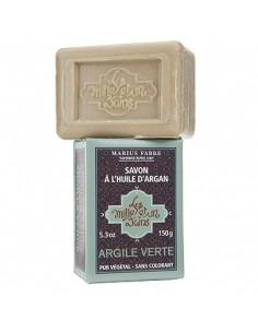 """Soap with Argan oil, 1001 Bains """"Les Mille et un Bains"""", Marius Fabre,  green clay mask, 150 g"""