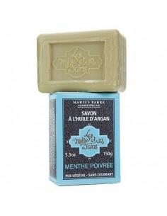 """Soap with Argan oil, 1001 Bains """"Les Mille et un Bains"""", Marius Fabre, Peppermint, 150 g"""