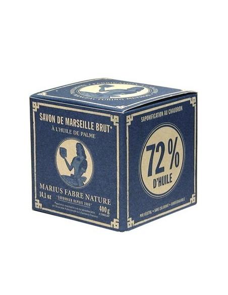 Grüne Würfelseife 72%, Savon de Marseille, Nature, Marius Fabre, Olivenöl, 400 g