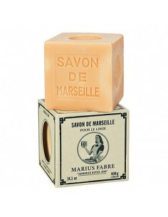 Cube of Savon de Marseille, Nature, Marius Fabre, Palm oil, 400 g