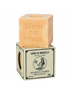 Cube Savon de Marseille, huile d'olive, Nature, Marius Fabre, blanc, 400 g