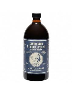 Schwarze Seife mit Olivenöl, Nature, Marius Fabre, Nachfüllflasche, 1000 ml