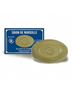Savon de Marseille Soap with Olive Oil, Nature, Marius Fabre, 150 g