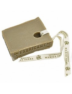 Marseille Soap slice with ribbon, Nature, Marius Fabre, 100 g
