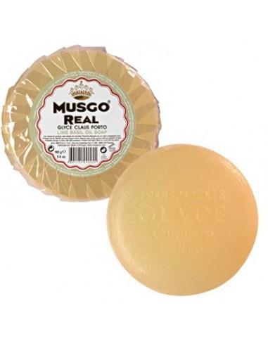 Gesichtsseife zur Tiefenreinigung, Glycerin Oil Soap, Lime Basil, Musgo Real, 165 g