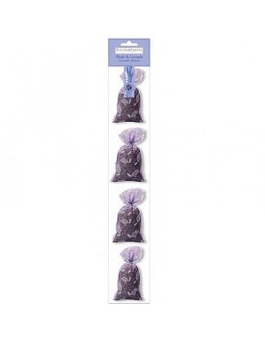 4er Set Lavendelsäckchen, Ventoux, Tüll