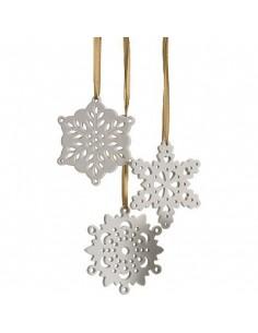 3 Ceramic Snowflakes to perfume, Collines de Provence
