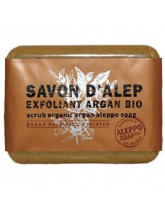 Aleppo Body Scrub Soap with Organic Argan Oil, Tadé, 100 g