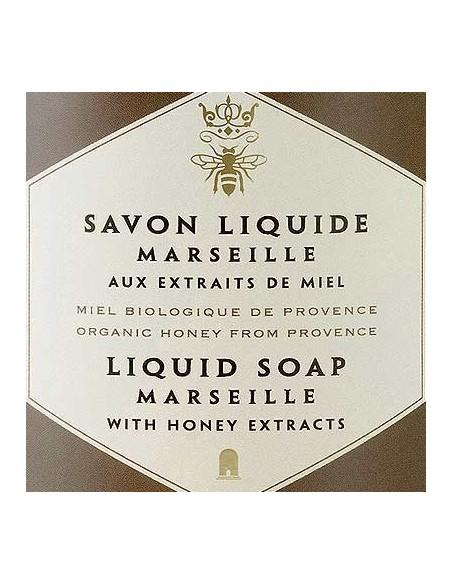 Flüssigseife Savon de Marseille, Panier des Sens, Bio Honig, 500 ml