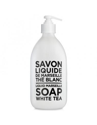 Savon de Marseille Flüssigseife, Black and White, Compagnie de Provence, White Tea (weißer Tee), 500 ml