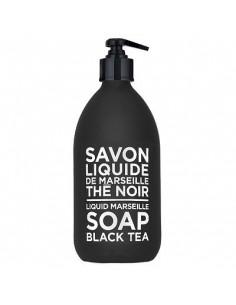 Savon de Marseille Flüssigseife, Black and White, Compagnie de Provence,Black Tea (schwarzer Tee), 300 ml
