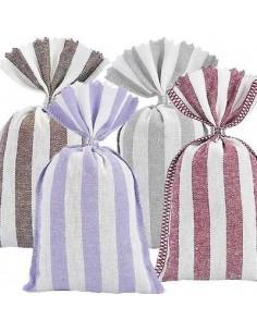 4 Lavender Sachets, striped