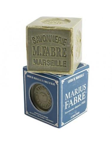 Grüne Würfelseife 72%, Savon de Marseille, Nature, Marius Fabre, Olivenöl, 200 g