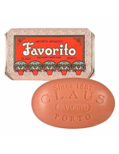 Seife, Deco, Claus Porto, Favorito, Red Poppy (rote Mohnblume), 150 g