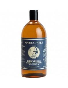Refill Dishwashing Marseille liquid soap, Nature, Marius Fabre, Perfume Free, 1000 ml
