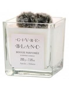 Bougie parfumée, Givre Blanc, Amélie et Mélanie, 200 g