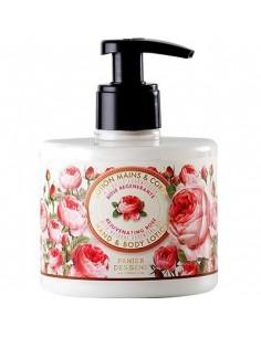 Lotion für Körper und Hände, Panier des Sens, Rose, 300 ml