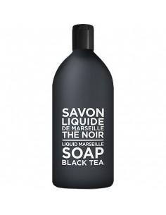 Savon Liquide de Marseille, Black and White, Compagnie de Provence, Thé Noir, Recharge, 1000 ml