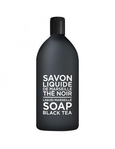 Savon de Marseille Flüssigseife, Black and White, Compagnie de Provence, Thé Noir (Black Tea), Nachfüllflasche, 1000 ml
