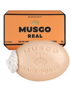 Duschseife mit Kordel, Soap on a Rope, Orange Amber, Musgo Real, 190 g