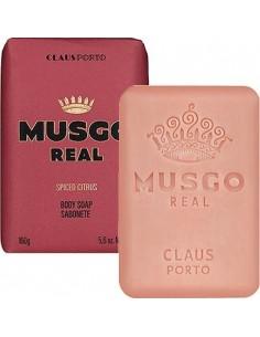 Körperseife, Men's Body Soap, Spiced Citrus, Musgo Real, 160 g