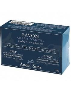 Savon exfoliant aux graines de pavot et Lait d'Anesse, 150 g