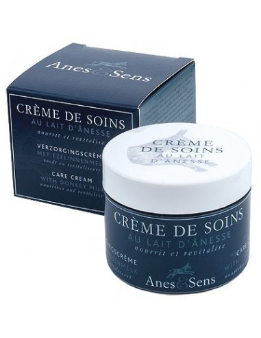 Care cream for face with donkey milk, Anes et Sens, 50 ml