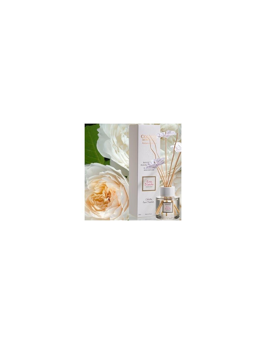 bouquet aromatique fleurs blanches collines de provence 200 ml white rose. Black Bedroom Furniture Sets. Home Design Ideas