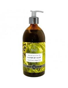 Aleppo soap liquid with 15% laurel oil, refill 1000 ml