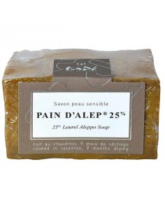 Aleppo soap 25 % laurel oil, Pain d'Alep, Tadé, 200 g