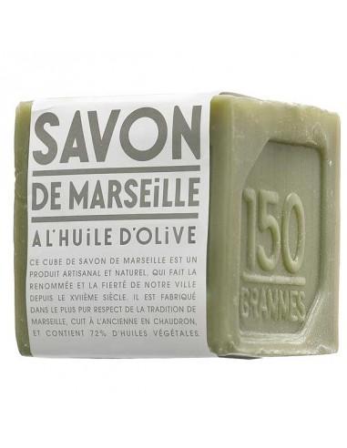 Savon de Marseille, grüner Seifenwürfel, Compagnie de Provence, 150 g, Olivenöl