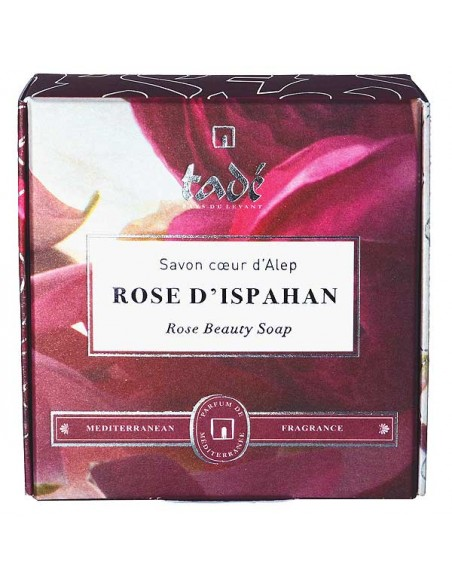 Aleppo-Seife in Herzform, Rose d'Ispahan, Tadé, 150 g