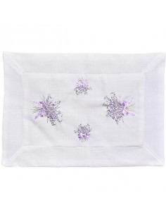 "Placemat ""Lavender"", hand embroidered, 30 x 50 cm"