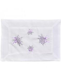 """Tischset """"Lavendel"""", handgestickt, 30 x 50 cm"""
