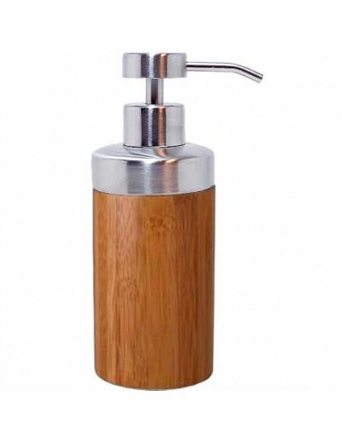 Dispenser for liquid Soap, Bamboo Wood