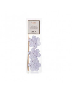 Deko Blüten mit Bambusstäbchen, Collines de Provence, 3 Blüten