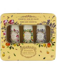 Metallbox Handcreme, Panier des Sens, Lavendel, Provence, Rose, 3 x 30 ml