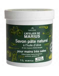Handwaschpaste, körnige Olivenkernseife mit Olivenöl, Marius Fabre, 1 l