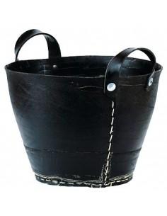 Korb aus recycelten Reifen - mittelgroß
